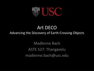 Art DECO  Advancing the Discovery of Earth-Crossing Objects