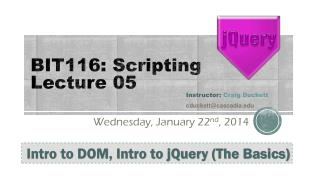 BIT116: Scripting Lecture 05