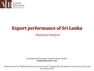 Export performance of Sri Lanka