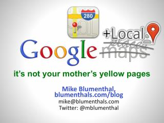 it's not your mother's yellow pages