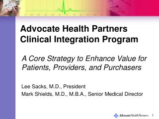 Advocate Health Partners Clinical Integration Program