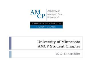 University of Minnesota AMCP Student Chapter