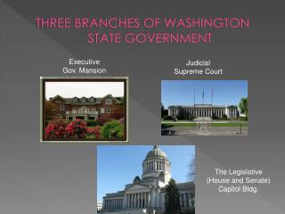 THREE BRANCHES OF WASHINGTON STATE GOVERNMENT