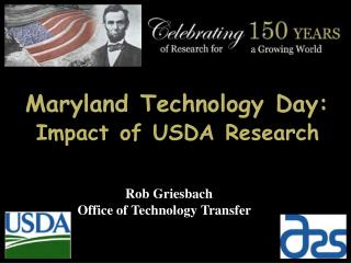 Maryland Technology Day: Impact of USDA Research