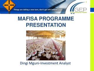 MAFISA PROGRAMME PRESENTATION