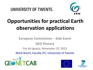 Opportunities for practical Earth observation applications