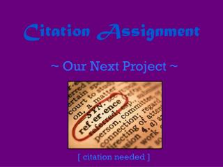 Citation Assignment