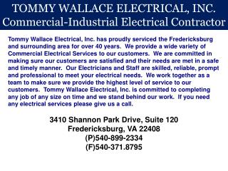 TOMMY WALLACE ELECTRICAL, INC. Commercial-Industrial Electrical Contractor