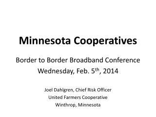 Minnesota Cooperatives