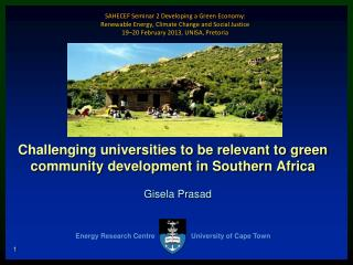 Challenging universities to be relevant to green community development in Southern Africa