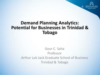 Demand Planning Analytics:  Potential for Businesses in Trinidad & Tobago
