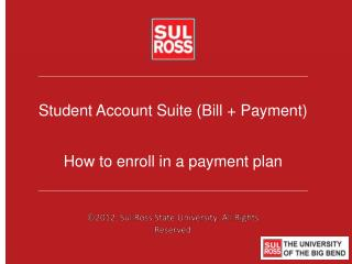 Student Account Suite (Bill + Payment)