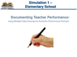 Documenting Teacher Performance: