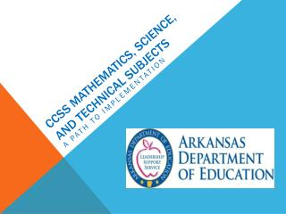 CCSS Mathematics, science, and technical subjects