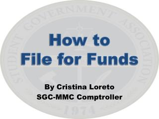 How to  File for Funds