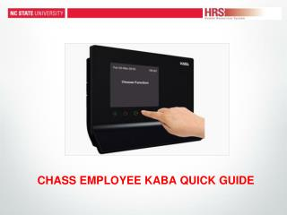 CHASS EMPLOYEE KABA QUICK GUIDE