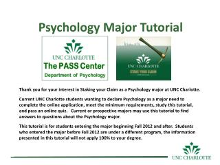 Psychology Major Tutorial