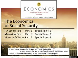 The Economics  of Social Security