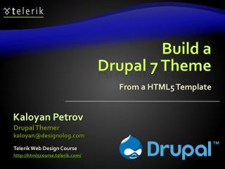Build a Drupal 7 Theme