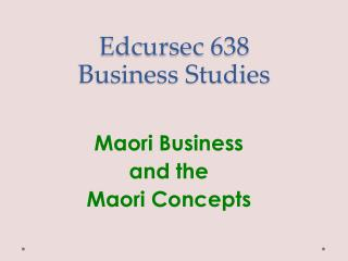 Edcursec  638 Business Studies