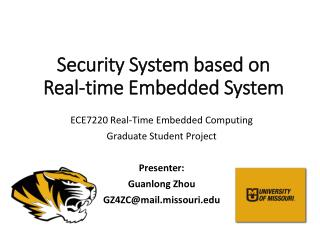Security System based on  Real-time  Embedded System