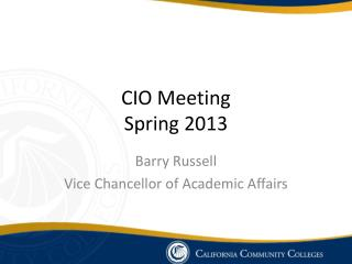 CIO Meeting Spring 2013