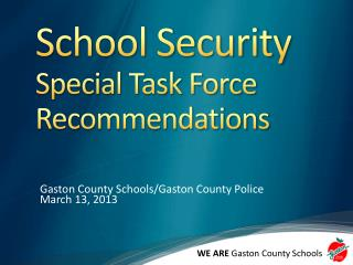 School Security  Special Task Force Recommendations