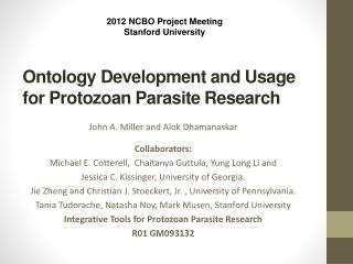 Ontology Development and Usage for Protozoan Parasite Research