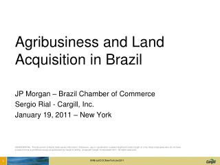 Agribusiness and Land Acquisition in Brazil