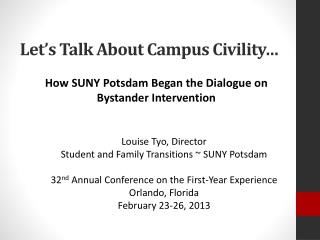 Let's Talk About Campus Civility…