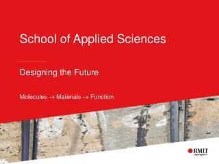 School of Applied Sciences