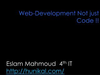 Web-Development Not just Code !!