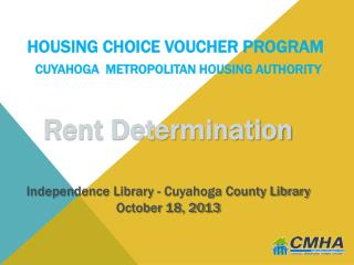 Housing Choice Voucher Program Cuyahoga  Metropolitan Housing Authority