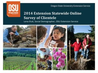 2014 Extension Statewide  Online  Survey of Clientele