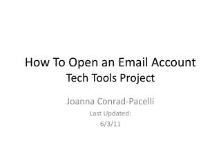 How To Open an Email Account Tech Tools Project