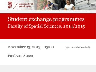 Student exchange programmes