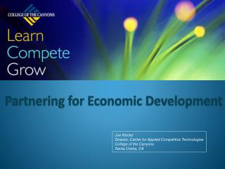 Partnering for Economic Development