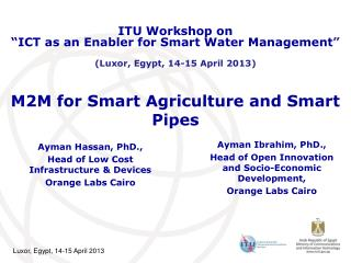 M2M for Smart Agriculture and Smart Pipes