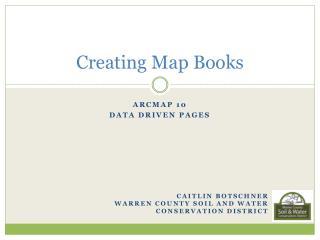 Creating Map Books