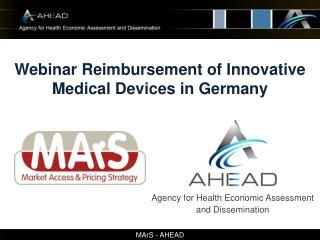 Webinar Reimbursement of Innovative Medical Devices in Germany