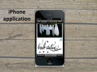 iPhone application