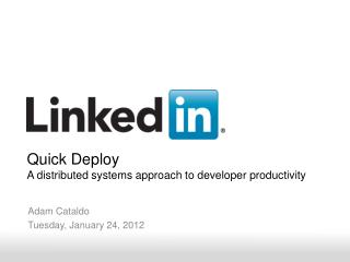 Adam Cataldo Tuesday, January 24, 2012