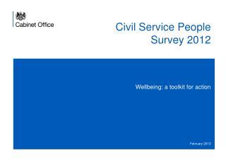 Civil Service People Survey 2012