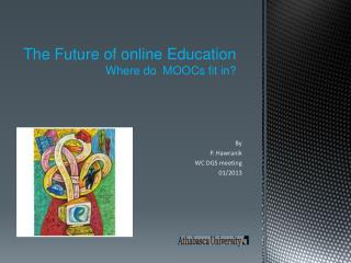 The Future of online Education  Where do  MOOCs fit in?