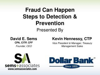 Fraud Can Happen Steps to Detection & Prevention