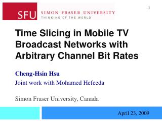 Time Slicing in Mobile TV Broadcast Networks with Arbitrary Channel Bit Rates