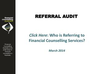 REFERRAL AUDIT