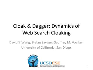 Cloak & Dagger: Dynamics of Web Search Cloaking
