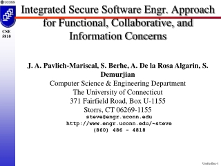 Secure Software Engineering