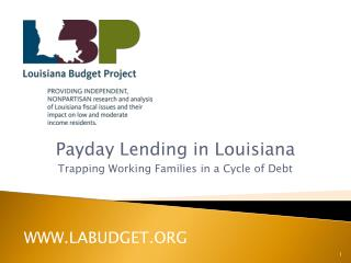 Payday Lending in Louisiana Trapping Working Families in a Cycle of Debt